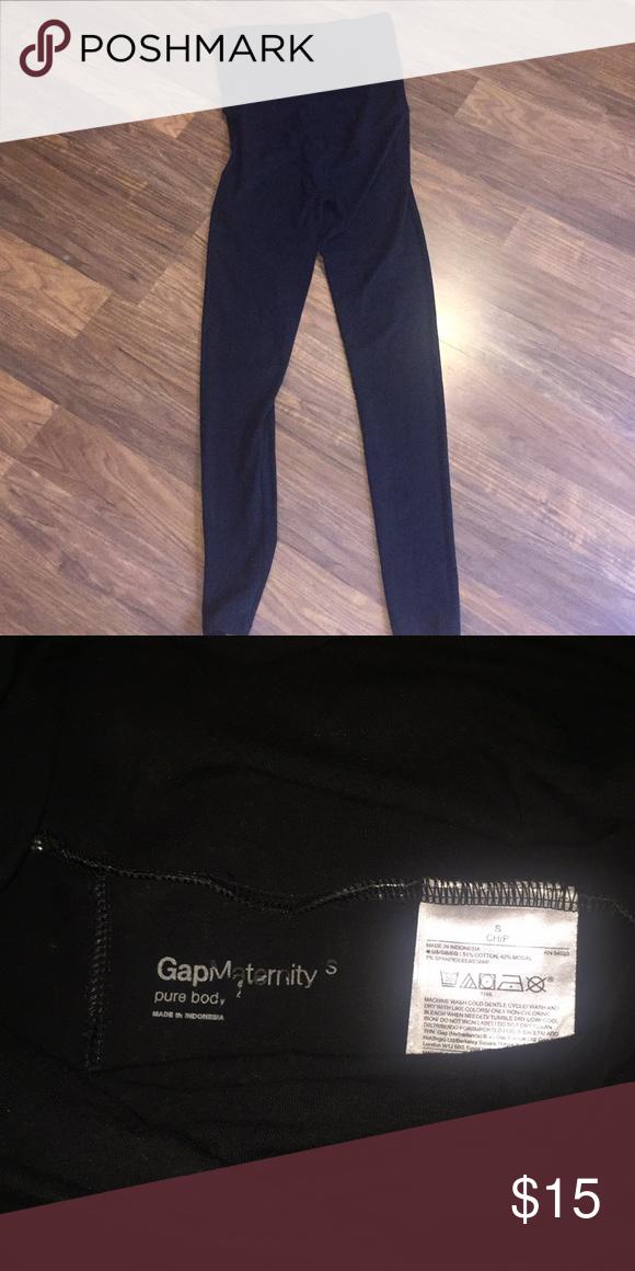 ac5b2754d4a4f GAP maternity leggings Black pure body maternity leggings size small GAP  Pants Leggings