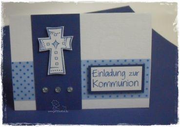 Basteln · Einladung Zur Kommunion