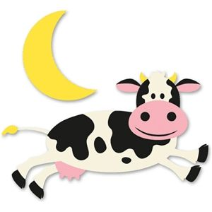 And The Cow Jumped Over The Moon Silhouette Design Cow