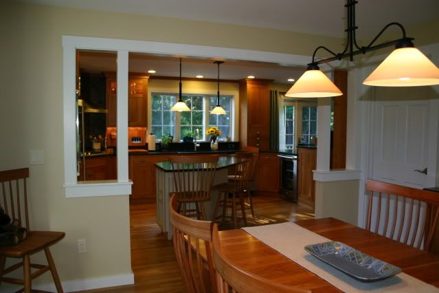 Knock Out Wall Kitchen Dining | Pics Of Kitchen Island To Open Dining Room?