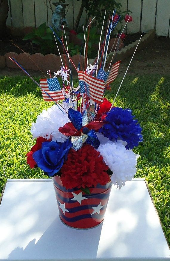 Memorial Day Flower Arrangement Ideas Basket Silk Arrangement