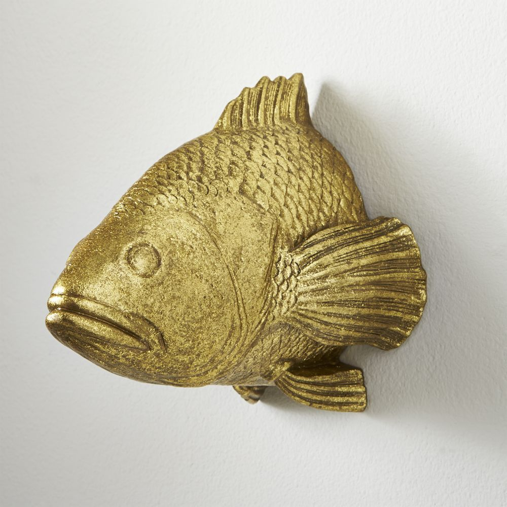 CB2 Stan The Goldfish Wall Hanging | Goldfish and Products