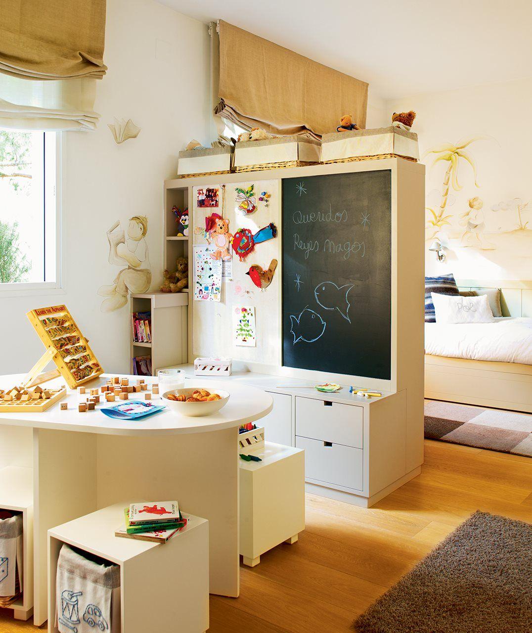 Ideas de almacenaje en habitaciones de ni os dormitorios - Ideas para cuartos de bebes ...