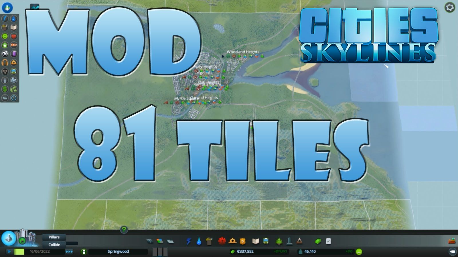 Cities Skylines Mod 81 Tiles Pc Gameplay Hd