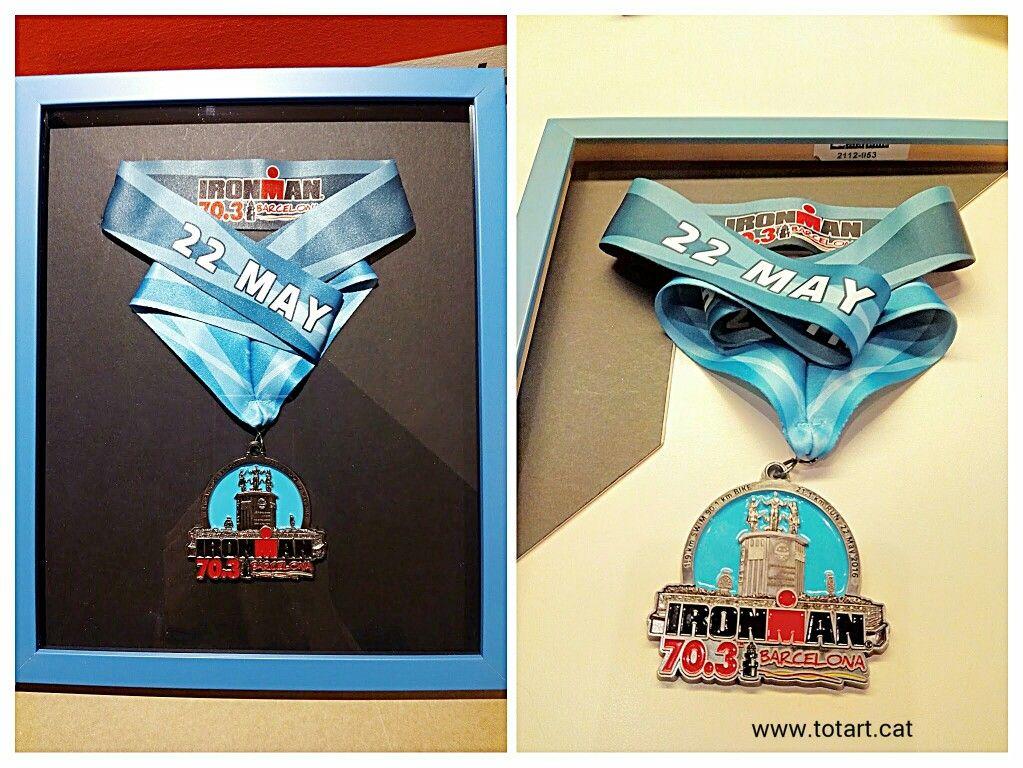 Marco para medalla #Ironman #Barcelona | Marcos para el deporte ...
