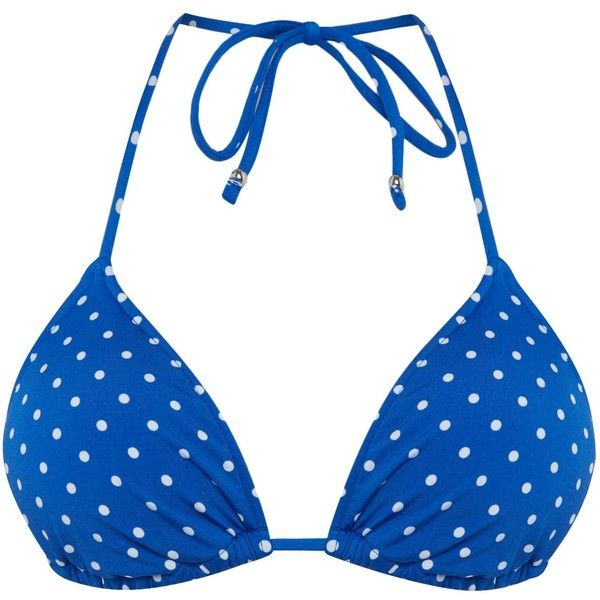Polo Ralph Lauren Pin dots ricky bra ($86) ❤ liked on Polyvore featuring intimates, bras, blue, women, blue bra, nylon bra, blue jersey and polo ralph lauren