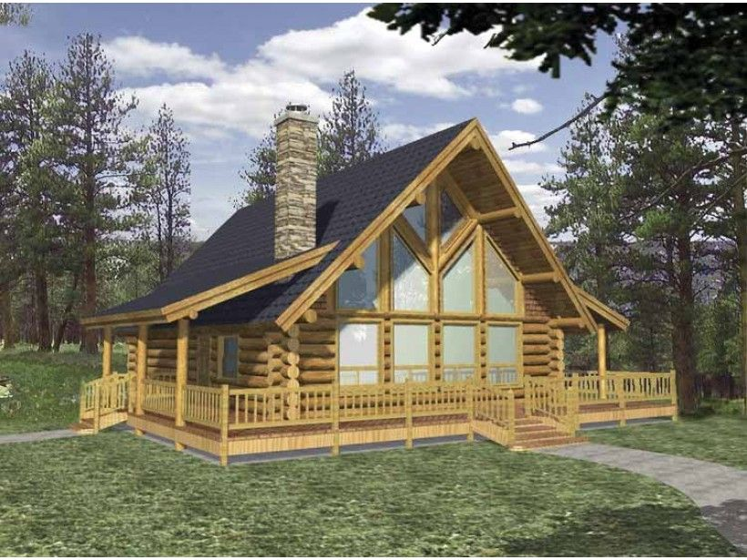 Log Style House Plan 2 Beds 2 Baths 2053 Sq Ft Plan 117 106 Log Cabin Floor Plans Log Cabin Plans Log Home Floor Plans