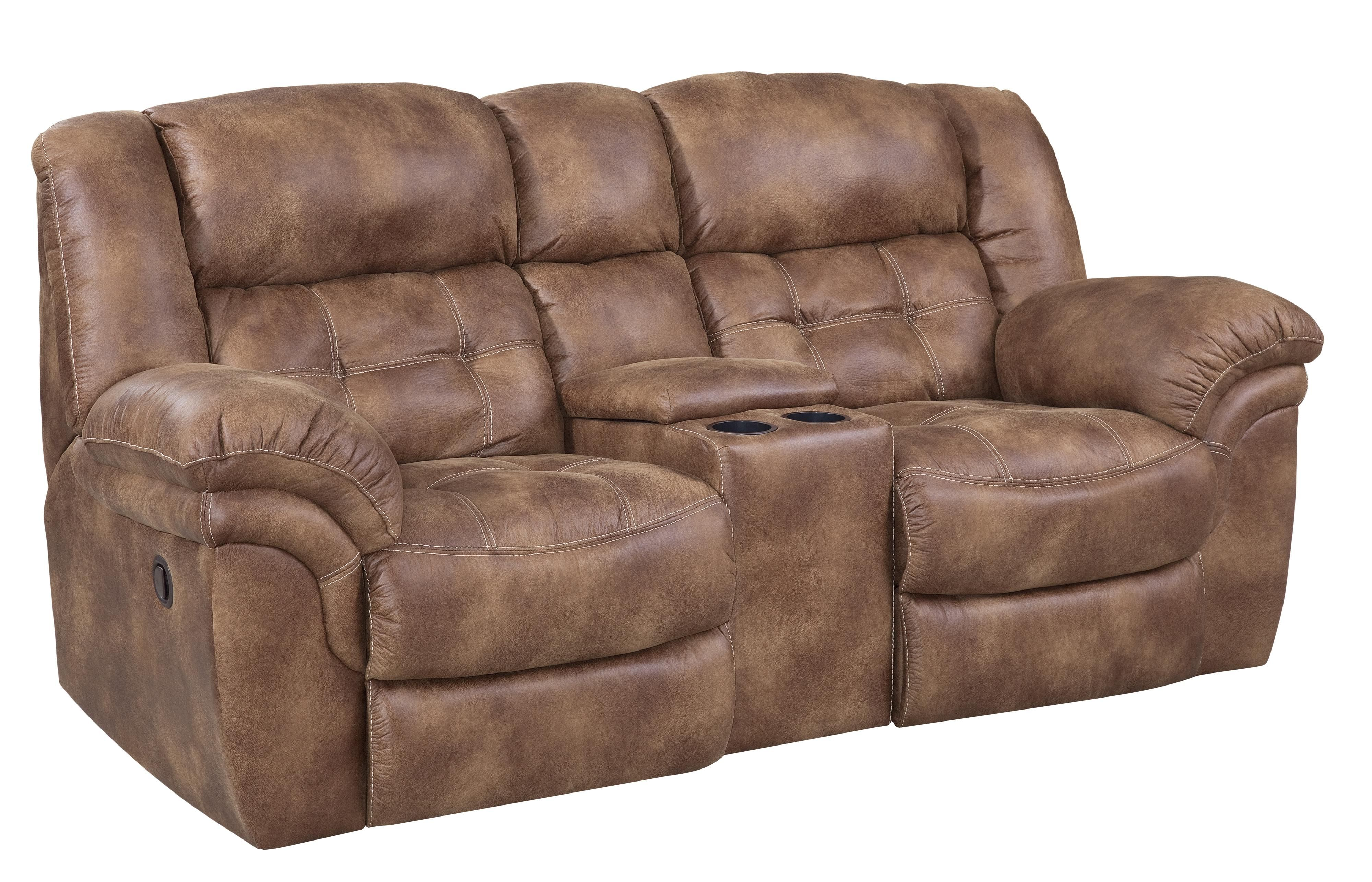 129 Reclining Console Loveseat By Homestretch Leather Reclining