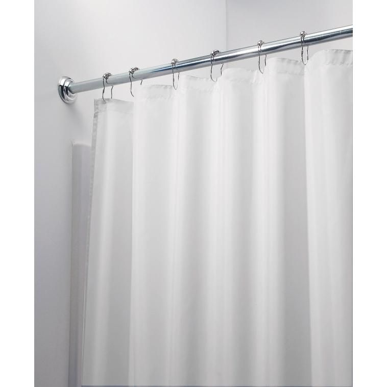 Interdesign 14662 Stall Size Shower Curtain 54 X 78 White