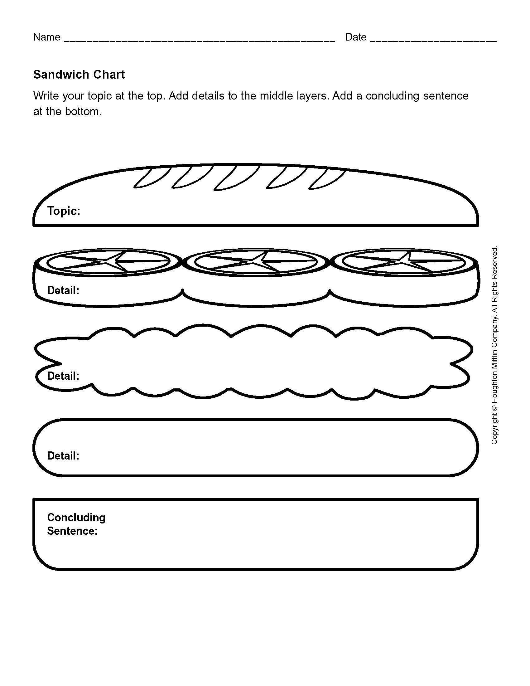 Hamburger Graphic Organizer Kindergarten Ideas Pinterest Ms