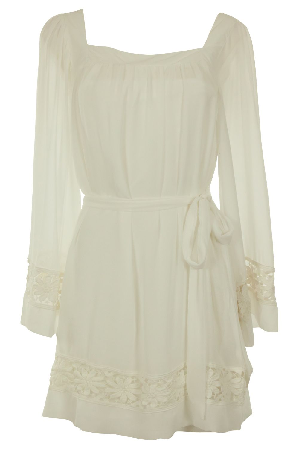 in a fantasy world, i would look so hot in this white dress. lol.