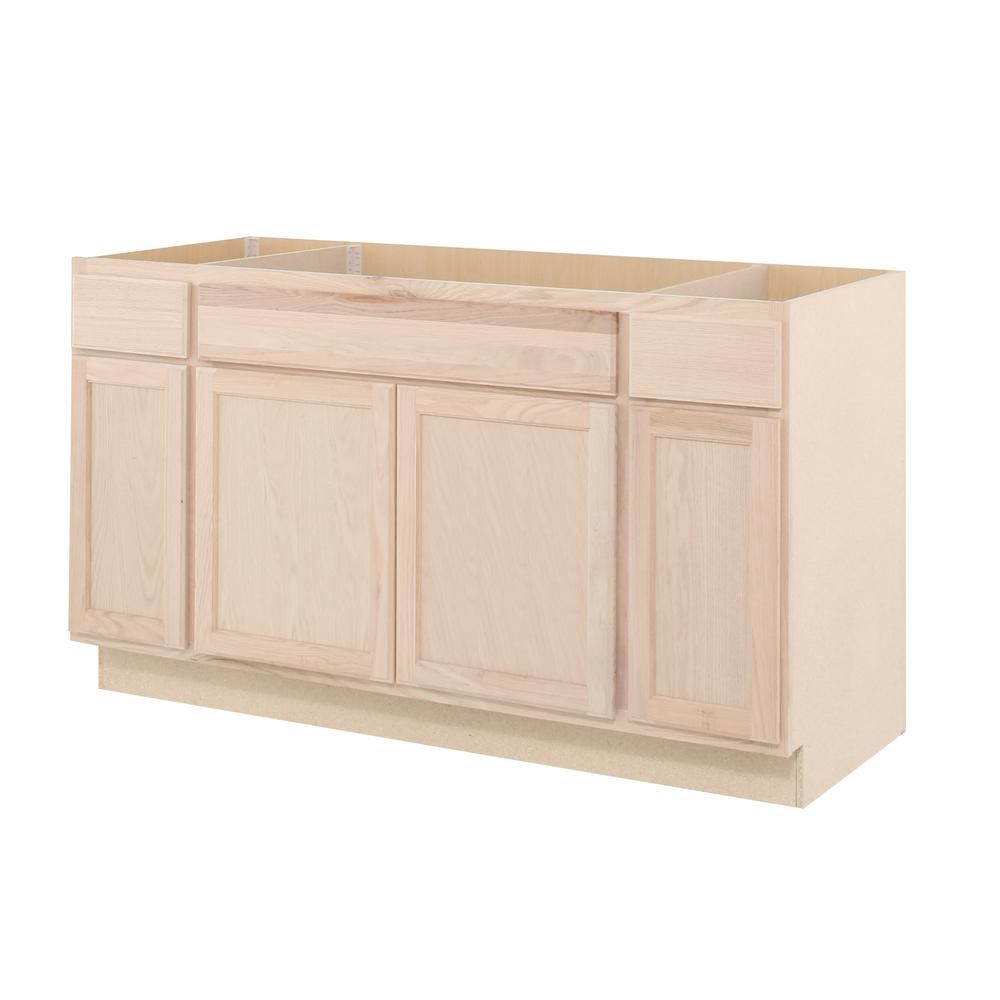 null Assembled 60x34.5x24 in. Sink Base Kitchen Cabinet in ...