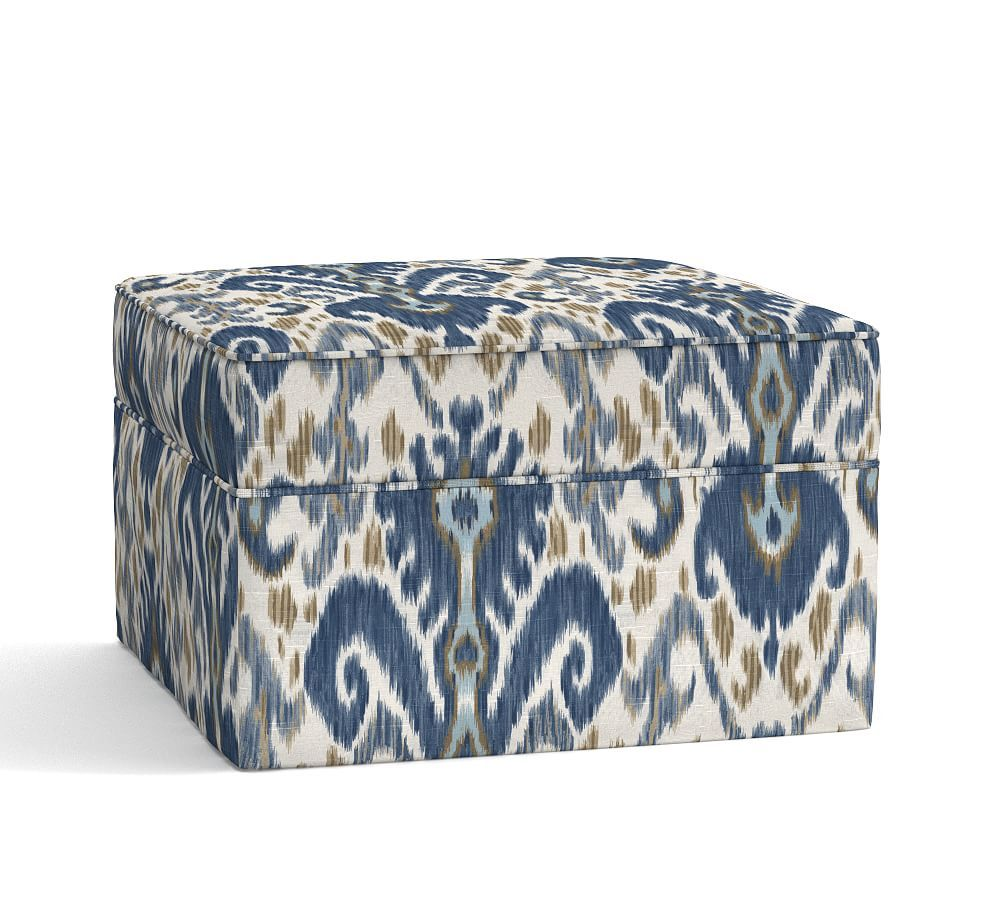Pearce Slipcovered Grand Ottoman Polyester Wrapped