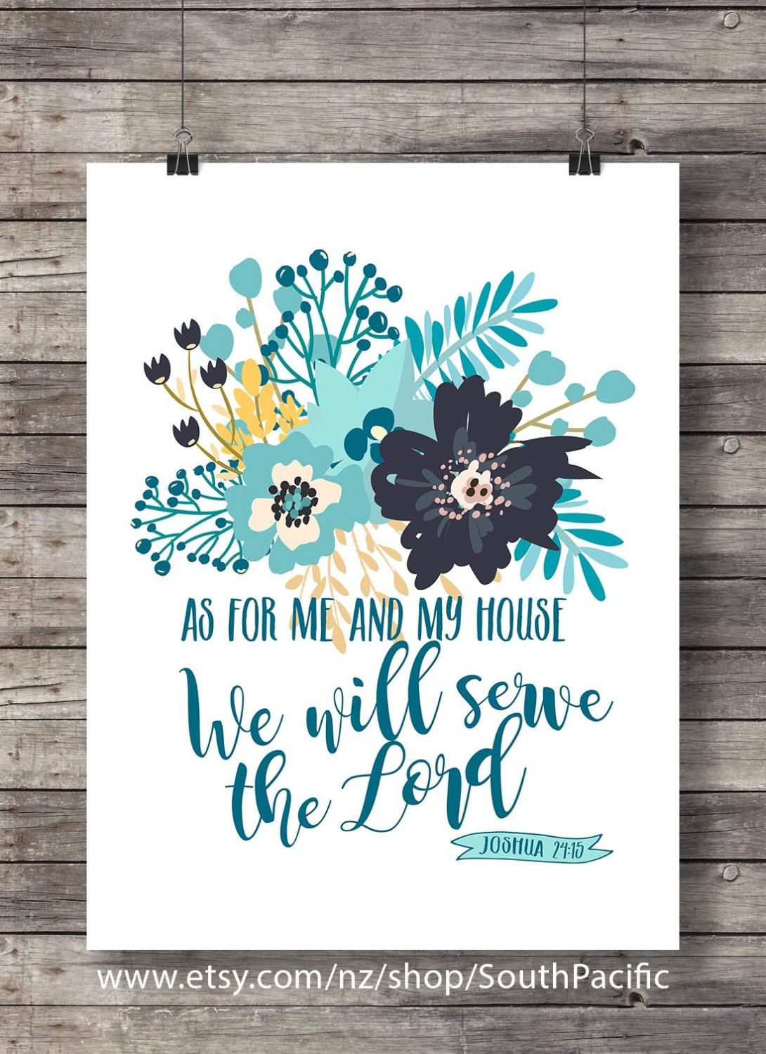 As For Me And My House Bible Verse Print Joshua 24 15 Scripture Print Floral Scripture Wall Art Ch Scripture Print Bible Verse Prints Scripture Wall Art