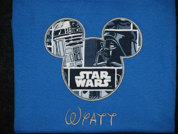 Star Wars Disney Shirt In Blue and Gray by designsbyPalmettoMom