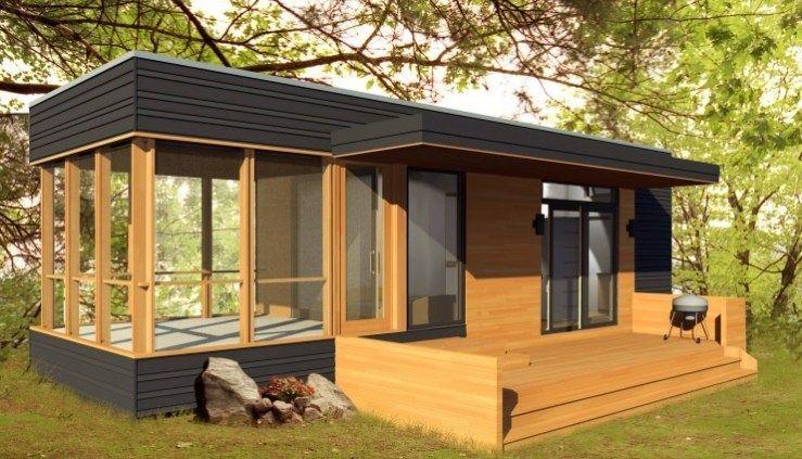288 Sq. Ft. Solo 24 Bunkie Modern Prefab Tiny Home | Modern Prefab
