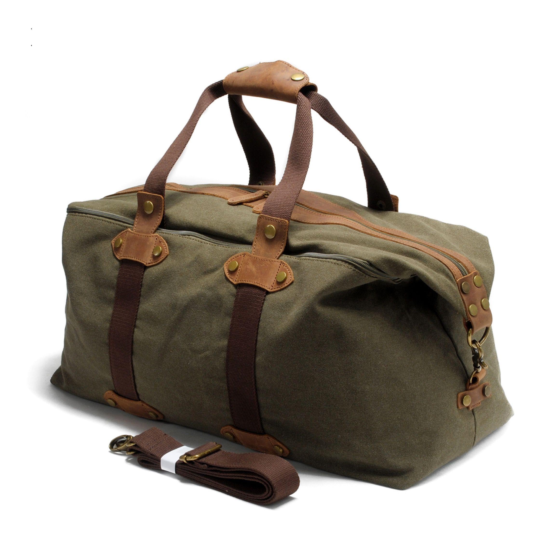 5fe11ad7edef Anders Canvas Duffle Bag - Green | Duffle Bag, Weekenders, Travel ...