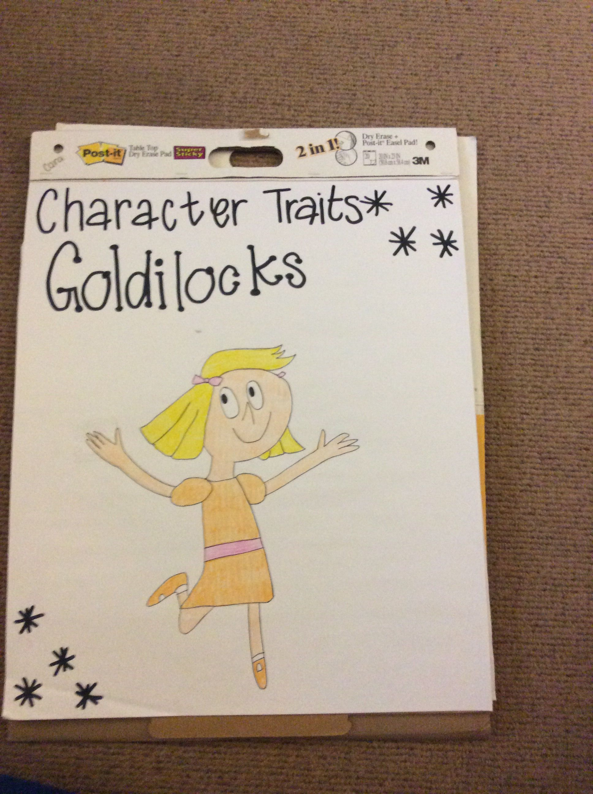 A Fun Way To Do Character Traits Using Goldilocks And The Three