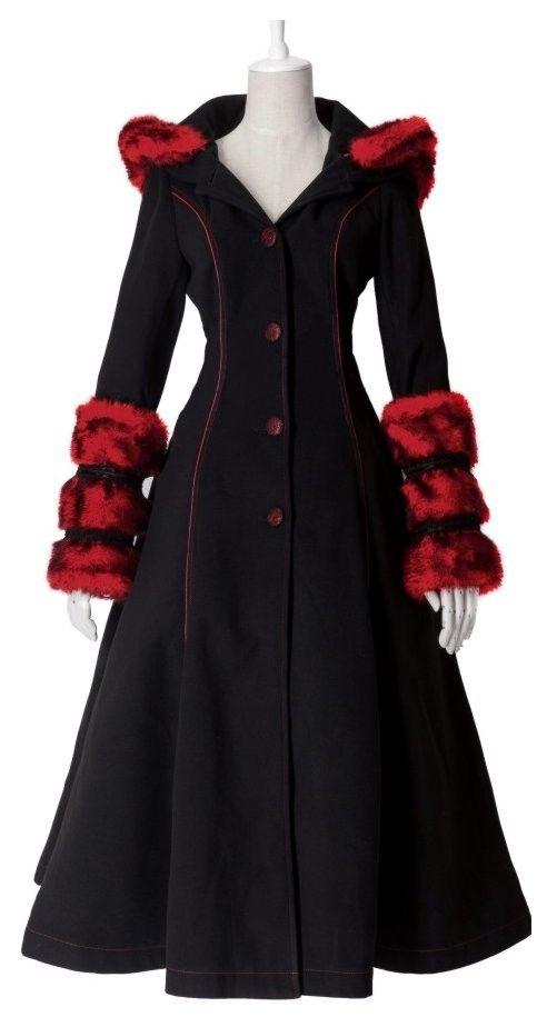 Manteau gothique noir femme