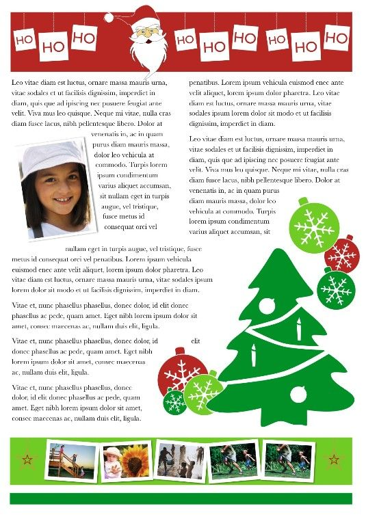 Christmas Newsletter Template  Craig Sicilia