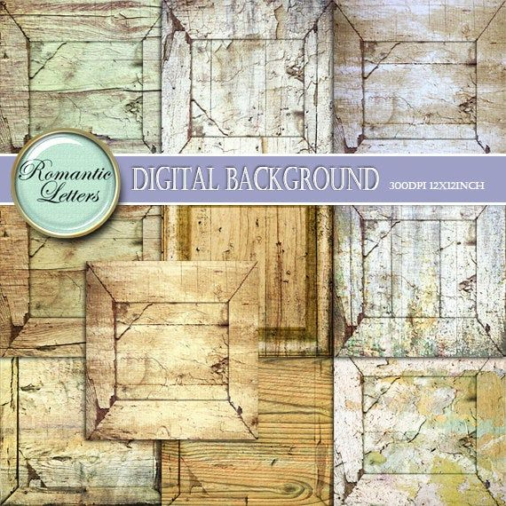 Digital paper Wood  texture Backgrounds Scrapbook Papers vintage wood textured  Shabby Chic white digital backdrop frames distressed wood #woodtexturebackground