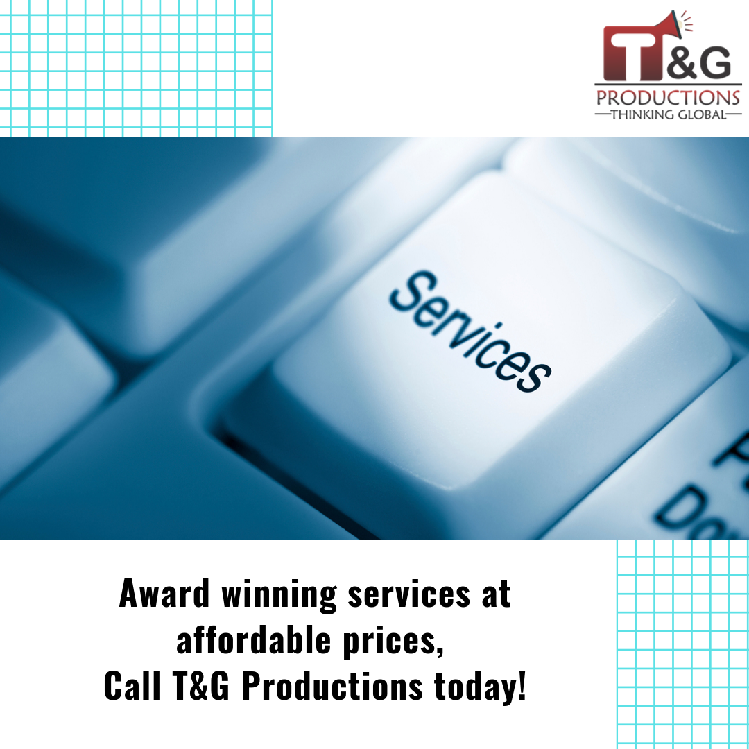 Award Winning Services At Affordable Prices Call Tng Productions Today Website Design Create Website Web Design