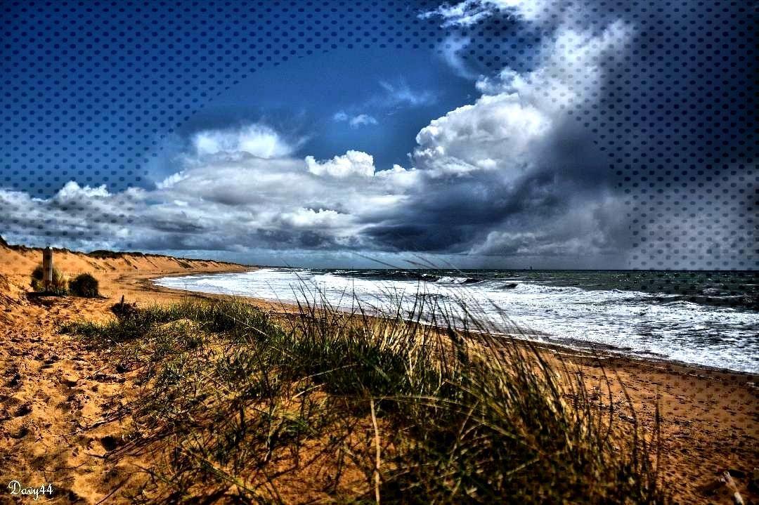 le mauvais temps arrive par la mer Bretignolles sur Mer mai 2016