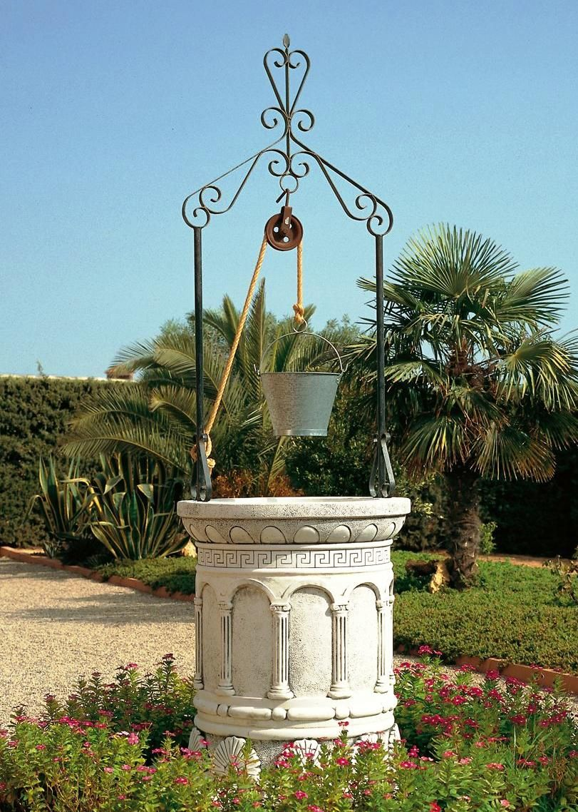 Pozos decorativos para jard n for Decoracion de piedras para jardin