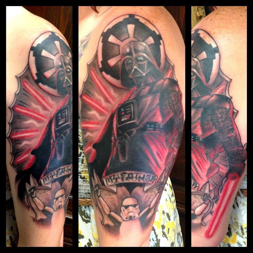 star wars tattoo the dark side my amazing memorial tattoo for my