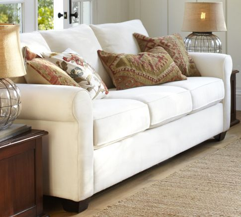 Buchanan Sofa Textured Basketweave Ivory