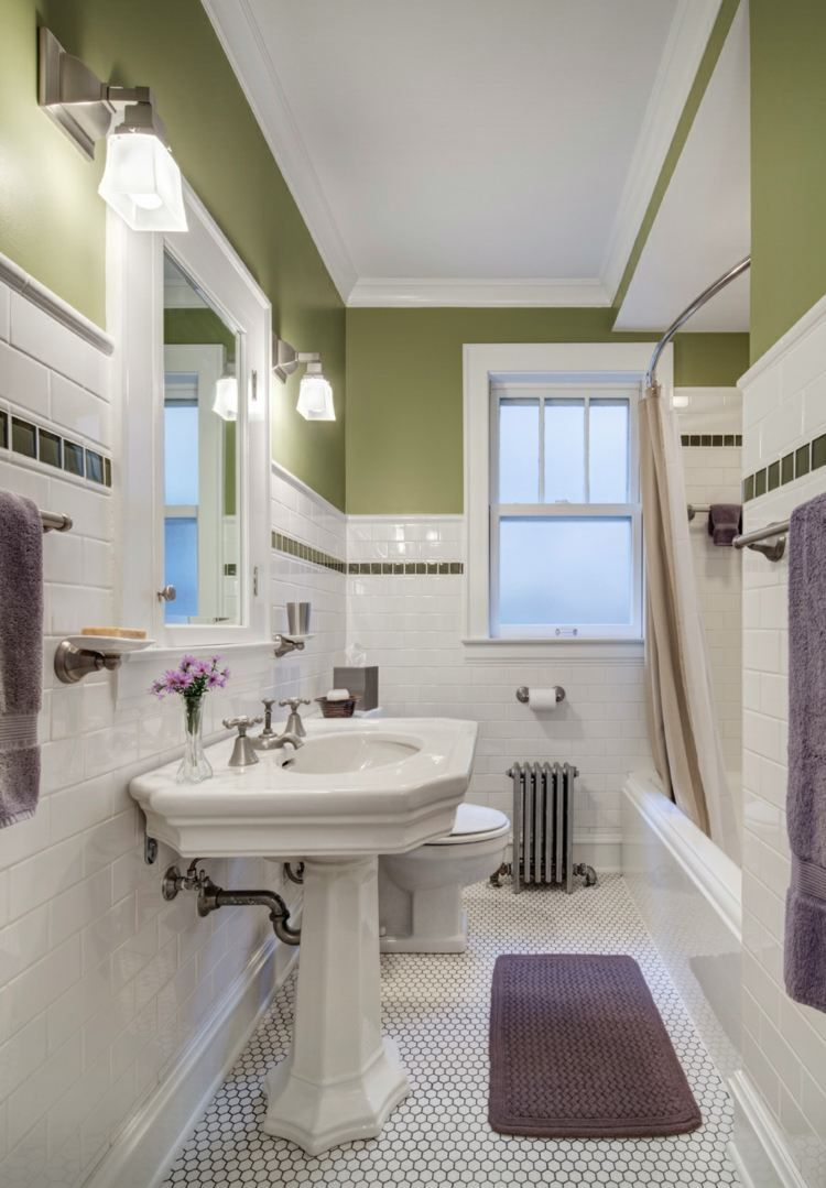 Couleur Vert Salle De Bain couleur salle de bains – idées sur le carrelage et la
