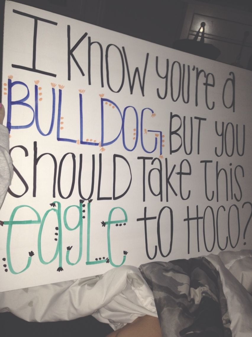 Cute Ideas To Ask A Boy To Sadie Hawkins - Different school mascots ideas for hoco