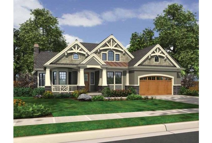 One Story 2200 Sq Ft Rambler House Plans Cottage House Plans Rambler House