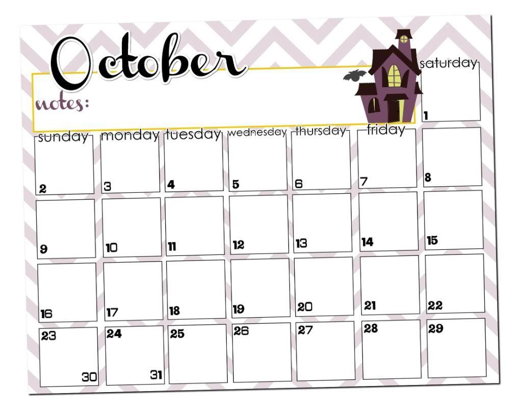 Halloween 2020 Calendar October Calendar Printable   I Heart Nap Time | Halloween calendar