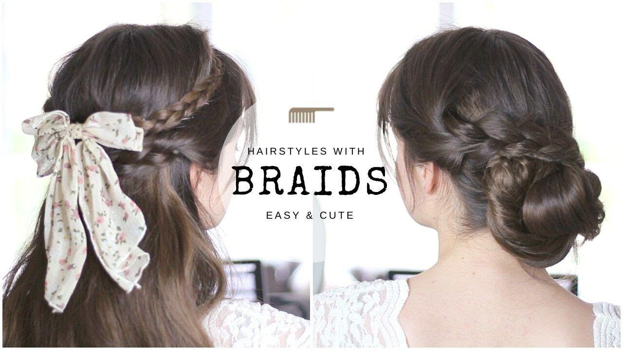 Braids For Beginners 10 Cute Simple Hairstyles Youtube In 2020 Easy Hairstyles Hair Styles Hair Hacks