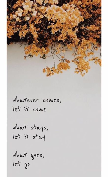 Inspirational Positive Quotes :Whatever comes let it come..
