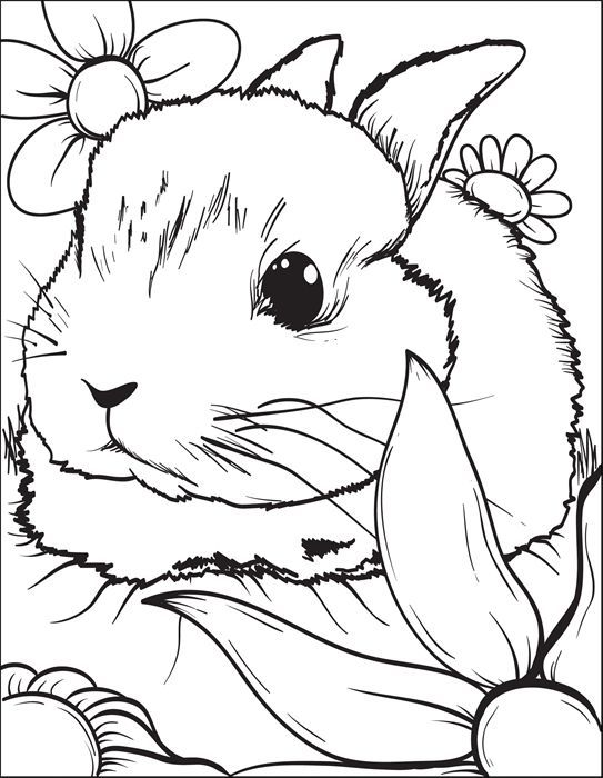 This Cute Coloring Page Of A Small Bunny Is Free Printable And