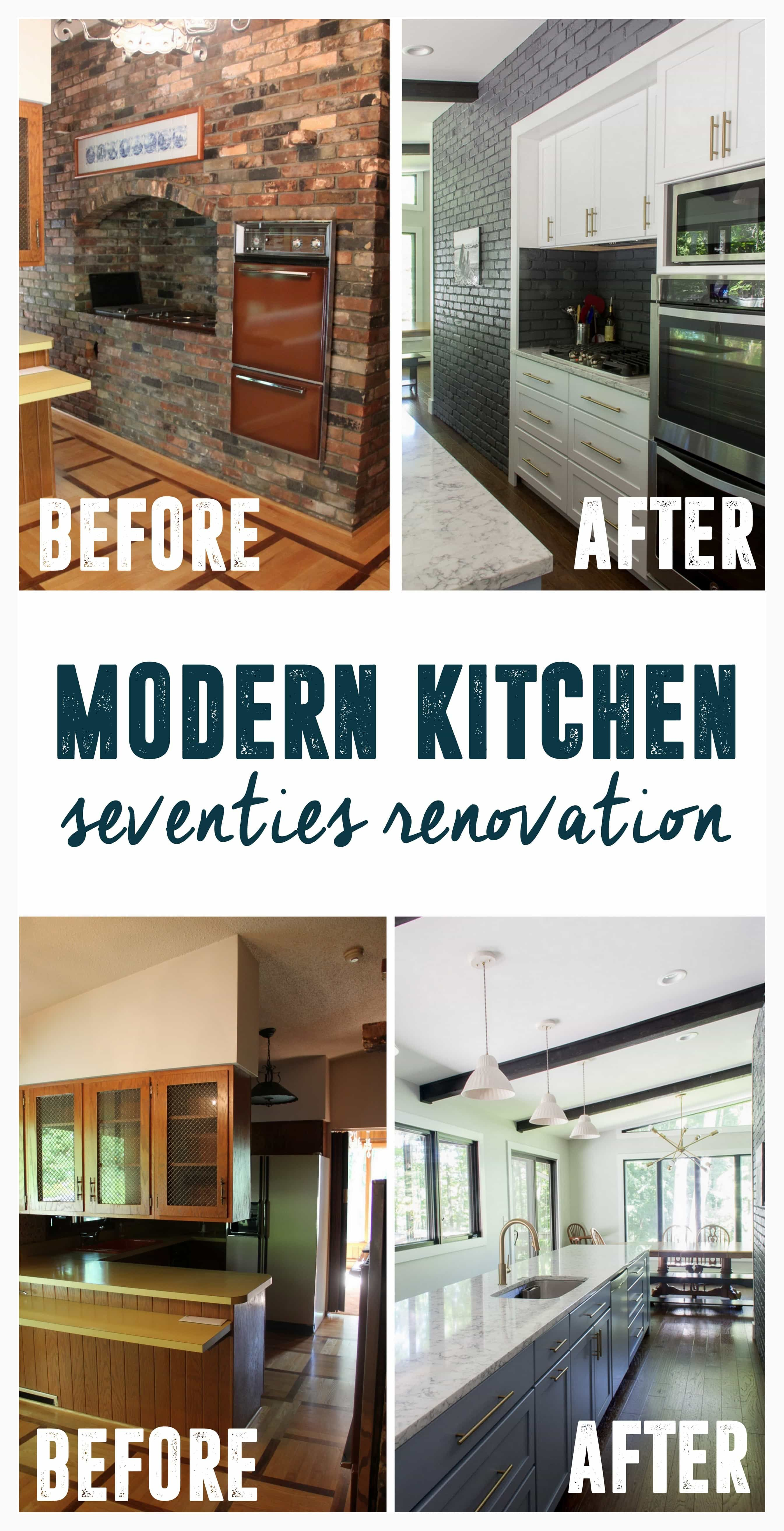 Retro Renovation Modern Kitchen