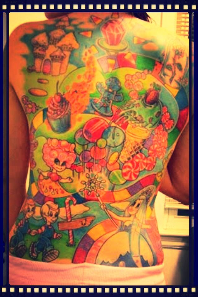 candyland tattoo tattoos pinterest candyland tattoo