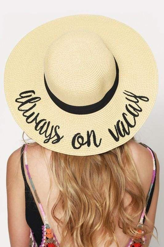 62113c5a6e2 Travel-ready sun hat with embroidered message By Customer Favorite CC Brand  One Size Fits Most