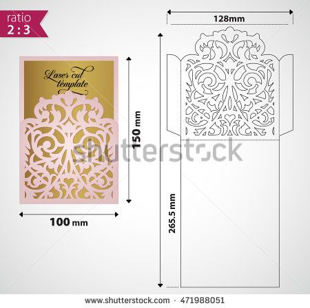 Laser cut envelope for exquisite wedding invitation elegant wedding laser cut envelope for exquisite wedding invitation elegant wedding template for die cutting vector envelope layout stopboris Image collections
