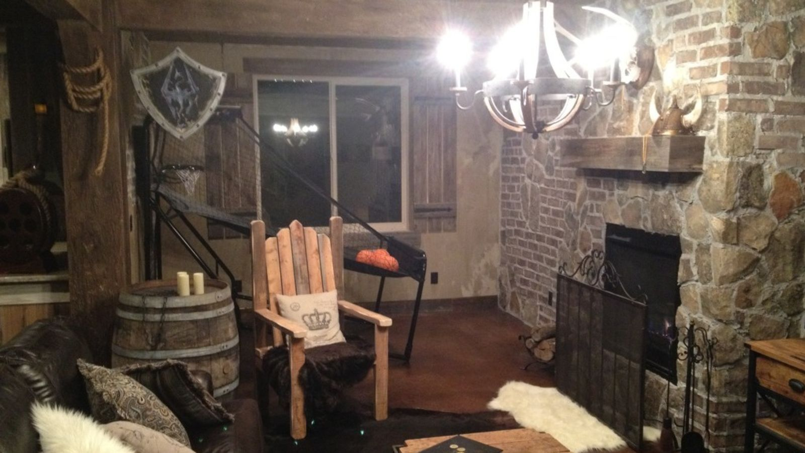 Skyrim themed basement also this comic book artist   is straight out of rh pinterest