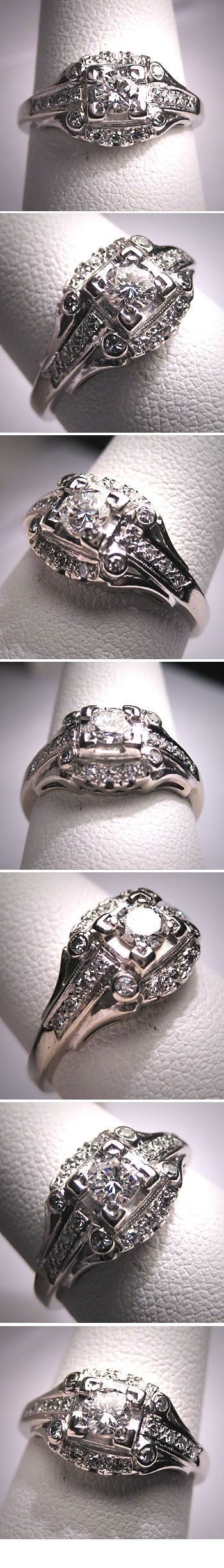 Antique Diamond Wedding Ring Vintage Art Deco by AawsombleiJewelry, $3285.00. ABSOLUTELY GORGEOUS.