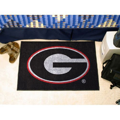 Georgia Bulldogs NCAA Starter Floor Mat (20x30) G Logo on Black