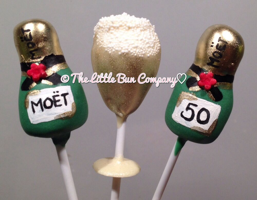 Champagne Bottle Glass Cake Pops Cheers