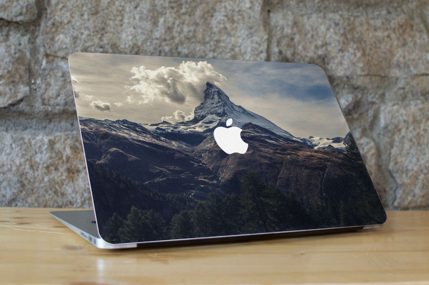 Amazing Mountain Photo  - Peel and Stick Fabric Macbook Skin Cover Decal for all Macbook Models by WallMac on Etsy https://www.etsy.com/listing/261828981/amazing-mountain-photo-peel-and-stick