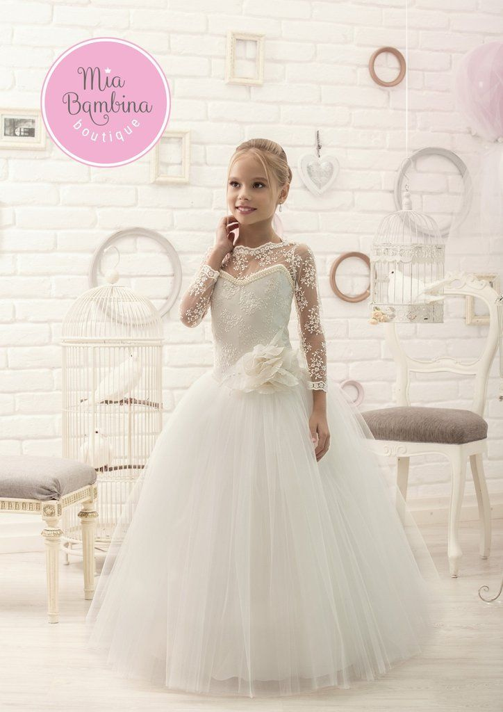 325b9a0bd5dca First Communion Dresses Christina - First Communion Dress with Lace ...