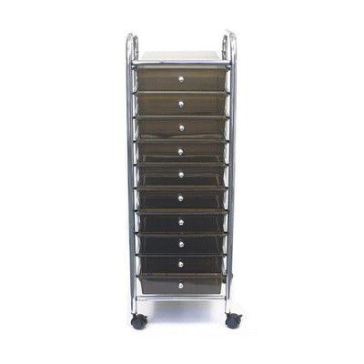 ADVANTUS CORPORATION 10-Drawer Storage Chest Color: Smoke