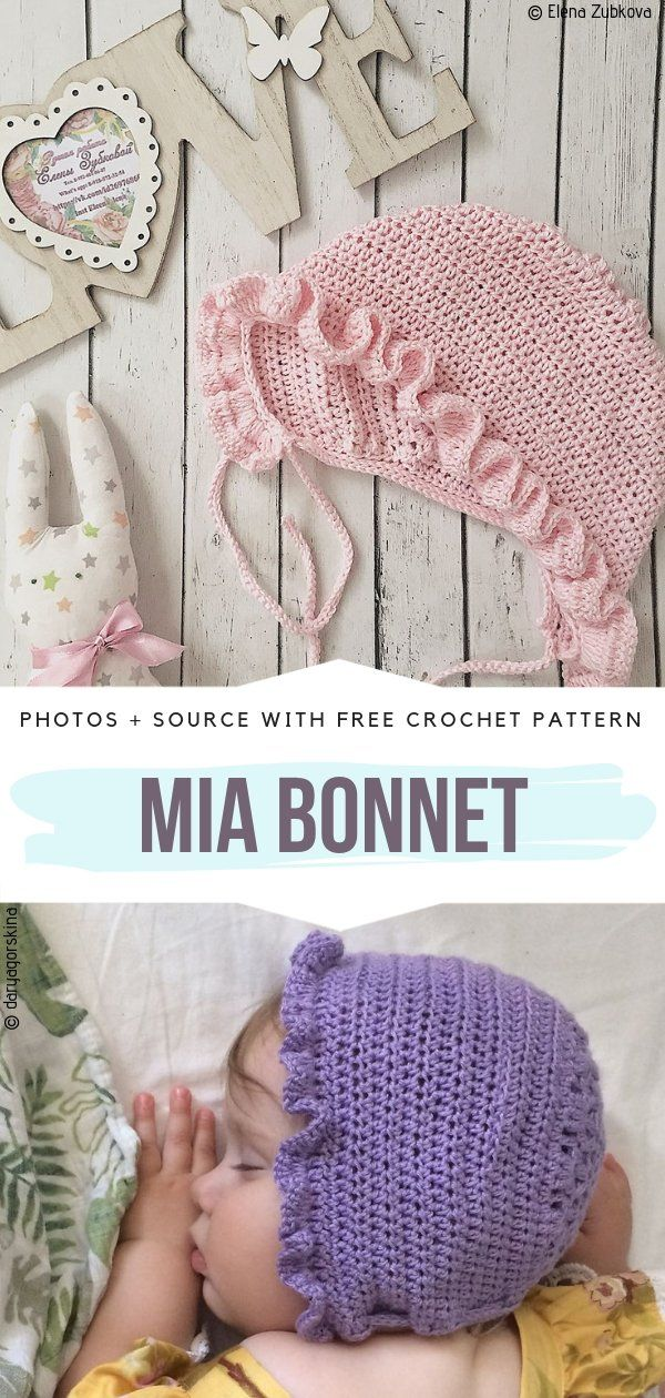 Charming Baby Bonnets Free Crochet Patterns #bonnets
