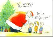 Netter Cartoon. ... und ich bin heute der Weihnachtsmanncartoonsammler.